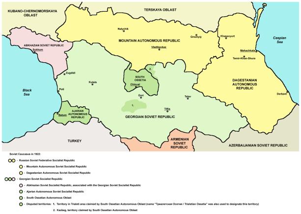 soviet caucasus 1921 ssr