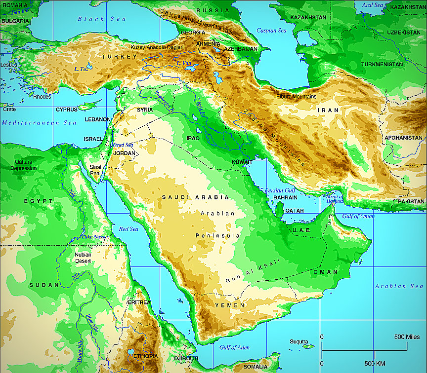 Is Georgia In The Middle East Georgiasomethingyouknowwhatever - Georgia physical map